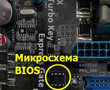 Прошивка микросхемы BIOS